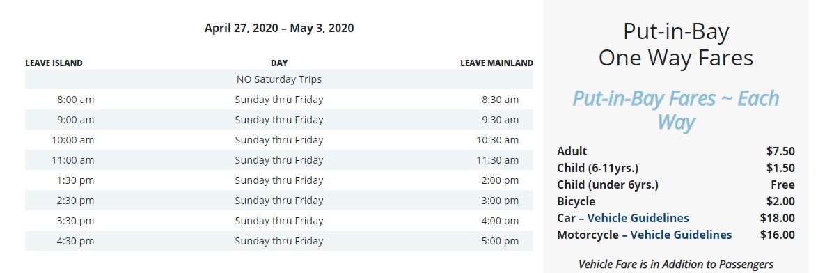 Miller Ferry Covid Schedule